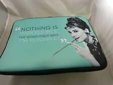 Audrey Hepburn for Mac book 15 inch padded case Nothing is impossible