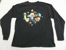 Minecraft Mojang Shirt Youth XL Long Sleeve Black Cotton Jinx Official