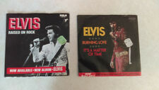 2 RCA Elvis 45 RPM Picture Sleeve Records It's A Matter Of Time-Burning Love VG+
