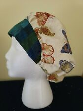 Bouffant Style: Butterfly with Dark  Band - Surgical Scrub Hat