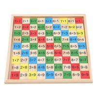 Montessori Educational Wooden Multiplication Table Math Arithmetic Teaching 6L
