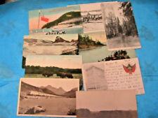 VINTAGE LOT OF 9 early 1900's CANADA~B.C.~WINNIPEG~CPR~ALBERTA postcards