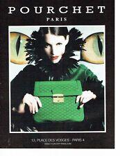 PUBLICITE ADVERTISING 126  2011  Pourchet  collection sac à main