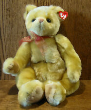"TY Plush #5028-G YESTERBEAR GOLD, 16"" NEW/Tag From Retail Store, Bear"