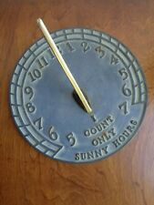 Sun Dial Virginia Metal Crafters Only Sunny Hours Cast Iron