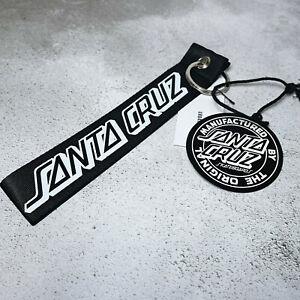 BNWT Santa Cruz Strip Logo Key Ring Black Skater Logo Urban Outfitters