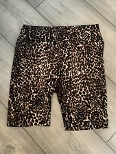 Ladies New Look Leopard Print Cycling Shorts Size 10 Brand New No Tags