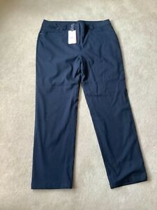 Ladies Navy Blue Ping Winter Golf Trousers Size 16 Reg.