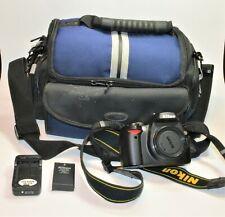 Nikon D60 10.2MP  DSLR Camera Body blk w Targus bag,battery,charger 7800+ counts
