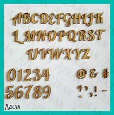 Wooden Lobster Font Letters Numbers Names & Words Sizes 2,3,4,5,6,7,8 and 10cm
