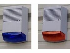 Dummy Burglar Alarm Bell Boxes Fake Decoy Solar Flashing LED Light