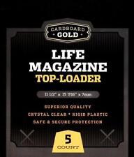 Pack of 10 CBG 11x15x7mm Life Magazine Hard Plastic Topload Holders protectors