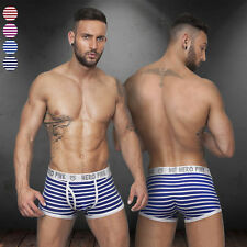 SEXY HOMMES RAYURE Sous-vêtement boxer slip short renflement Poche confortable