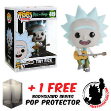 FUNKO POP VINYL RICK AND MORTY TINY RICK WITH GUITAR EXCLUSIVE + POP PROTECTOR