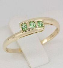 9K Solid Yellow Gold Tsavorite Ring + 12 Months Warranty