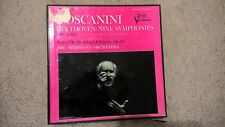 BEETHOVEN: Nine (9) Symphonies by Toscanini & NBC Symphony Orchestra - 8 LP's