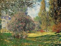 The Park by Claude Monet Giclee Fine ArtPrint Reproduction on Canvas