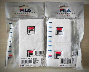 2 x pair Fila Wristband Polsiere munequera schweissband poignet VINTAGE SEALED