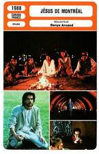 FICHE CINEMA : JESUS DE MONTREAL - Bluteau,Wilkening,Arcand 1988