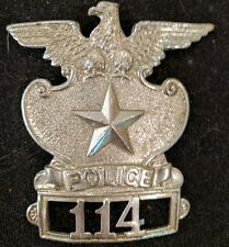 Obsolete Topeka Kansas Police Hat Badge 114