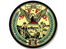 4x4 inch ROUND San Francisco Fire Dept Sticker - firefighter logo sffd logo ca