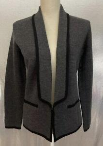 Loft Womens Sz M Petite Gray Wool Blend Knit Blazer Jacket NWT