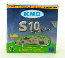 "KMC S10 Stainless Steel Single Speed Bike Chain 1/2"" x 1/8"""