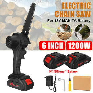 6'' Cordless Electric Wood Cutting Saw Cutter Chainsaw For Makita 21V Battery
