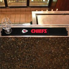 "Kansas City Chiefs 3.25"" x 24"" Bar Drink Mat - Man Cave, Bar, Game Room"