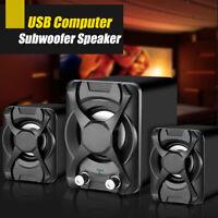 3pcs/set Mini Portable USB Computer Subwoofer Speaker for Desktop Laptop Stereo