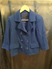 Banana Republic Double Breasted Royal Blue Peacoat, Size Small