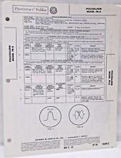 vintage sams photofact folder radio parts manual policealarm model pr-8  receiver