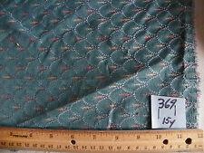 Green Shell Print Damask Upholstery Fabric 1 Yard  R369