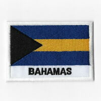 Bahamas National Flag Iron on Patches Embroidered Applique Badge Emblem