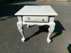 Vintage Grey Painted Side table Project. Collection only