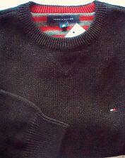 Unifarbene Tommy Hilfiger Herren-Pullover mit mittlerer Strickart
