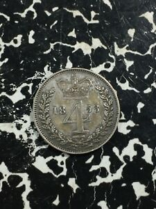 1853 Great Britain 4 Pence Lot#PJ207 Silver! Low Mintage!