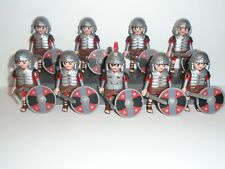 PLAYMOBIL - 8 ROMAN SOLDIERS AND 1 TRIBUNE COMMANDER WITH ACCESSORIES