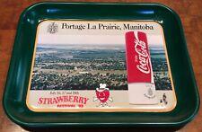 Vintage COCA-COLA Portage La Prairie, Manitoba Strawberry Festival '93 Tray
