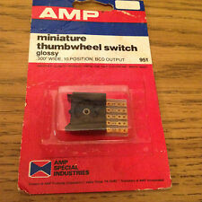 """AMP .300"""" WIDE,10 POSITION,BDC OUTPUT MINIATURE THUMBWHEEL SWITCH"""