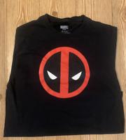 Marvel Men's T Shirt Deadpool Icon Black Logo Graphic Tee Sz M