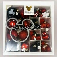 PRIMARK Disney Minnie Mickey Mouse pack of 25 baubles Christmas Decorations Gift