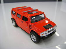 2008 Hummer H2 SUV red kinsmart TOY model 1/40 scale diecast Car present gift