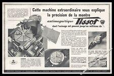Publicité TISSOT Montre Suisse Watch Watches Original Vintage print Ad 1953