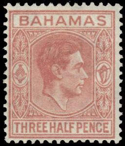 """BAHAMAS 102a (SG151a) - King George VI """"Pale Red Brown"""" (pf84834)"""