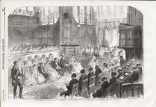 1856 PRINT CONFIRMATION OF THE PRINCESS ROYAL PRIVATE CHAPEL WINDSOR CASTLE b31