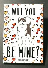 Alaskan Malamute Dog and Hearts Magnet Valentines Day Gifts and Holiday Decor