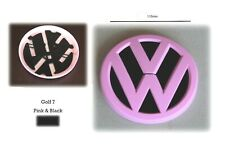1 x VW Golf MK7 PINK & BLACK' REAR BADGE 11cm NEW replacement