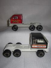 2 Rare Vintage Tonka Pressed Steel 1980 Semi Trucks Fire Dept & Highway Patrol