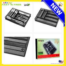 Flatware Drawer Organizer Cutlery Tray Storage Kitchen Silverware Utensil Holder